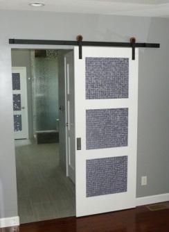 Modern barn door glass barn door dayoris 200 x 390jpg for Bathroom remodel quincy il